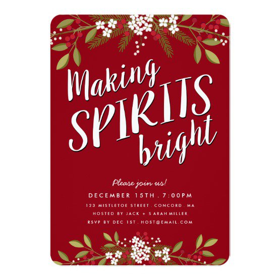 Turquoise And Gold Holiday Party Invitation Background