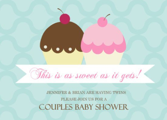 Twin Boy Girl Party Invitations