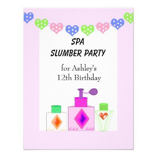 Unique Slumber Party Invitations