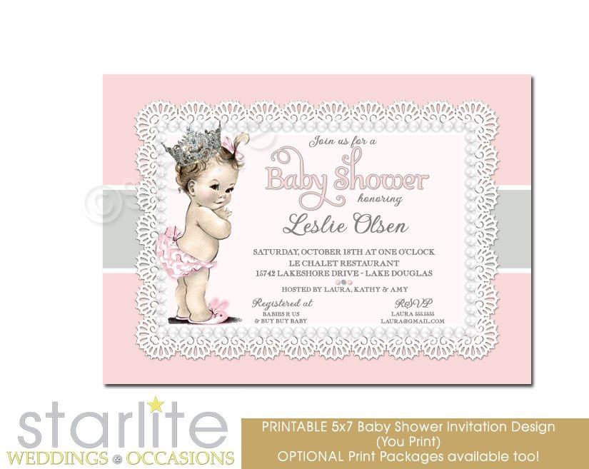 Vintage Baby Shower Invitations