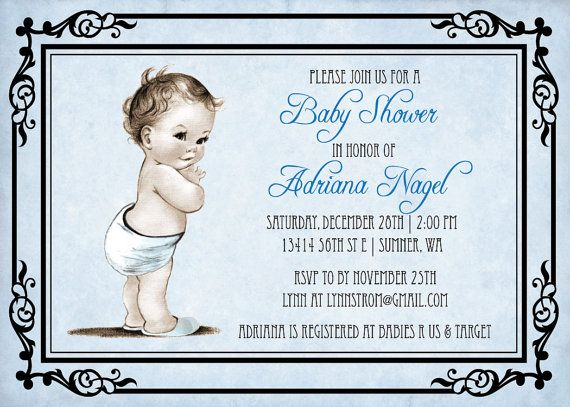 Old Fashioned Baby Shower Invitations Images Invitation Templates