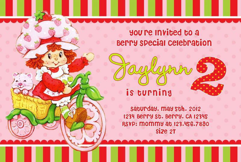 Vintage Strawberry Shortcake Printable Invitations