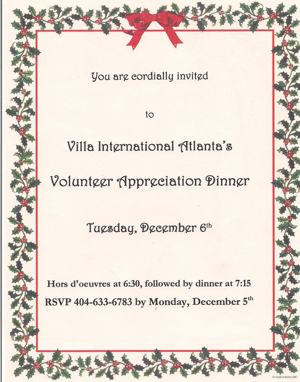 Volunteer Appreciation Invitation Wording