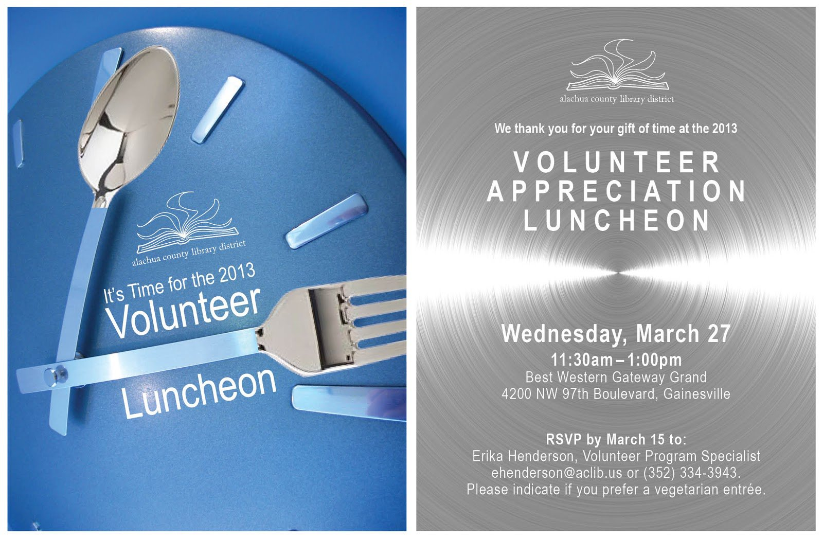 Volunteer Appreciation Luncheon Invitation