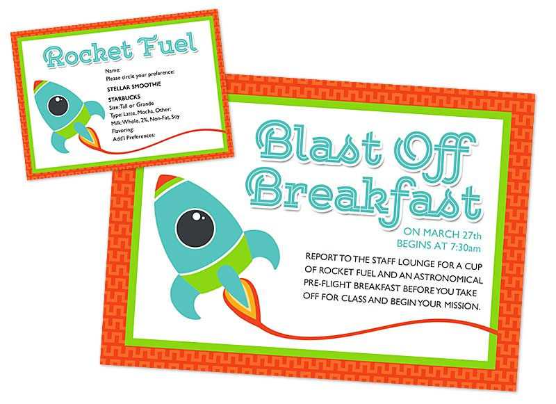 Volunteer Breakfast Invitation Templates