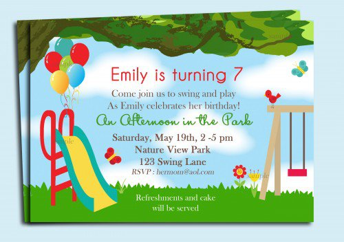 Water Park Birthday Invitations Printable