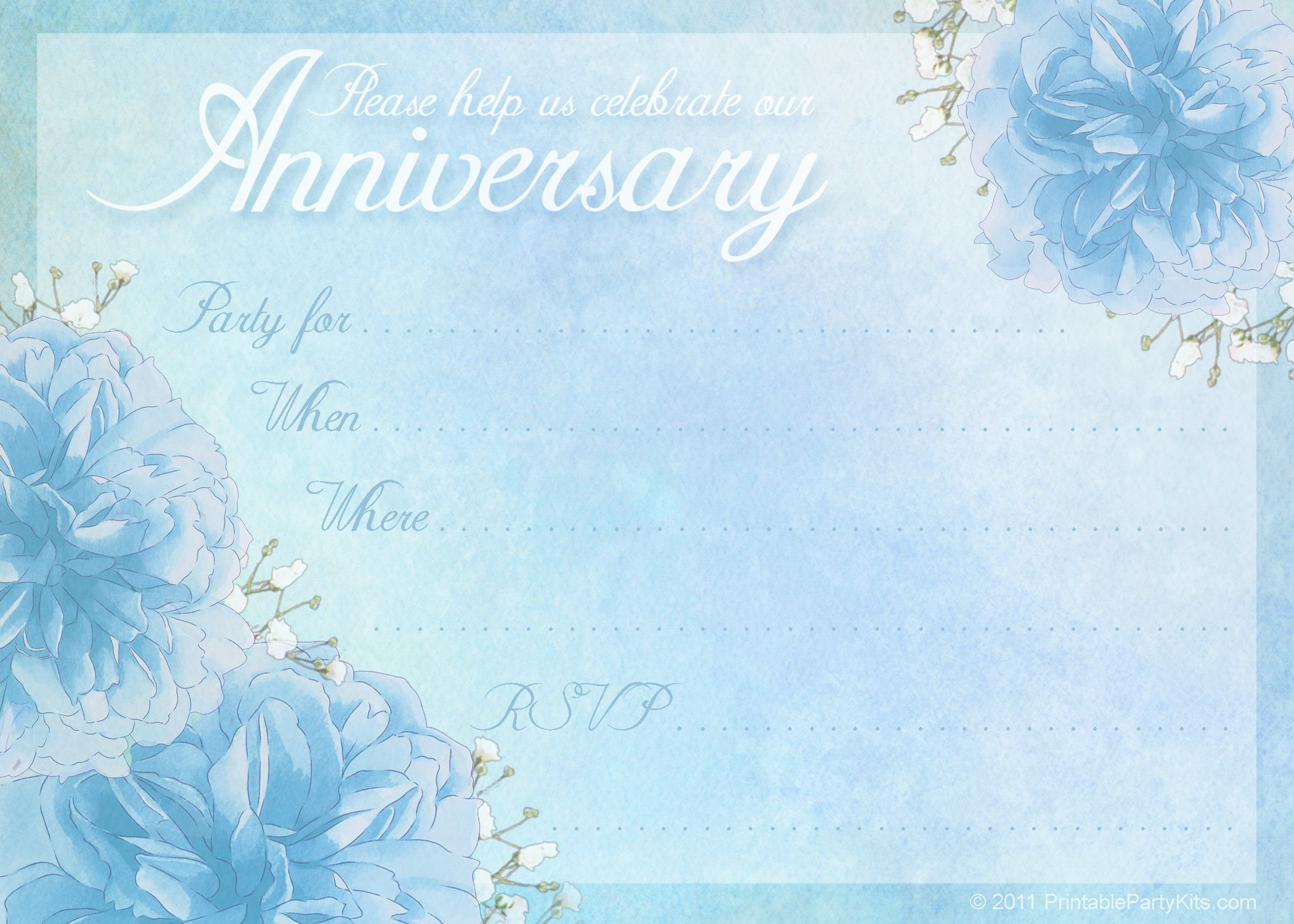anniversary party invitations templates free
