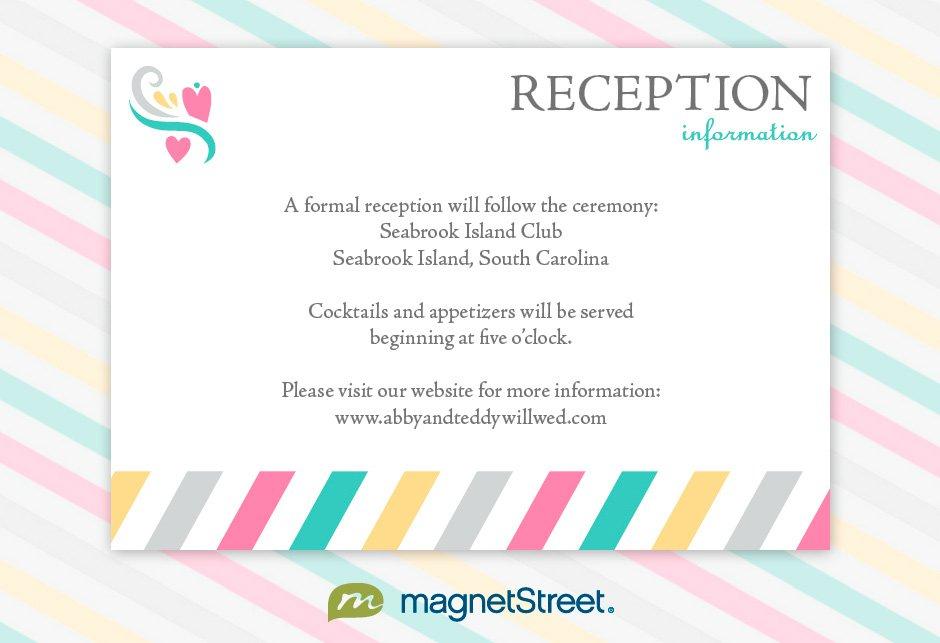 Wedding Invitation Information Insert Wording