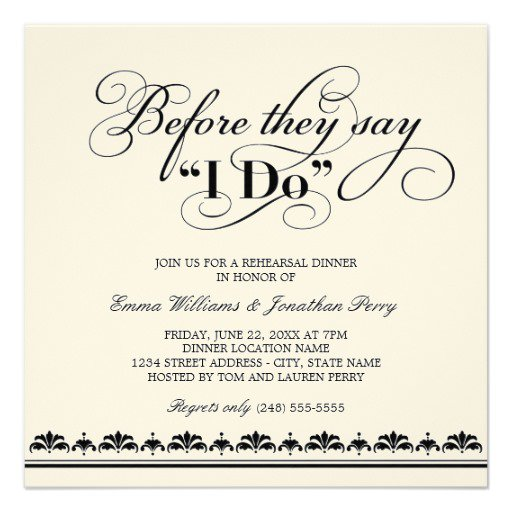 Wedding Reception Invitation Wording Funny: Fun Wedding Rehearsal Dinner Invitation Wording
