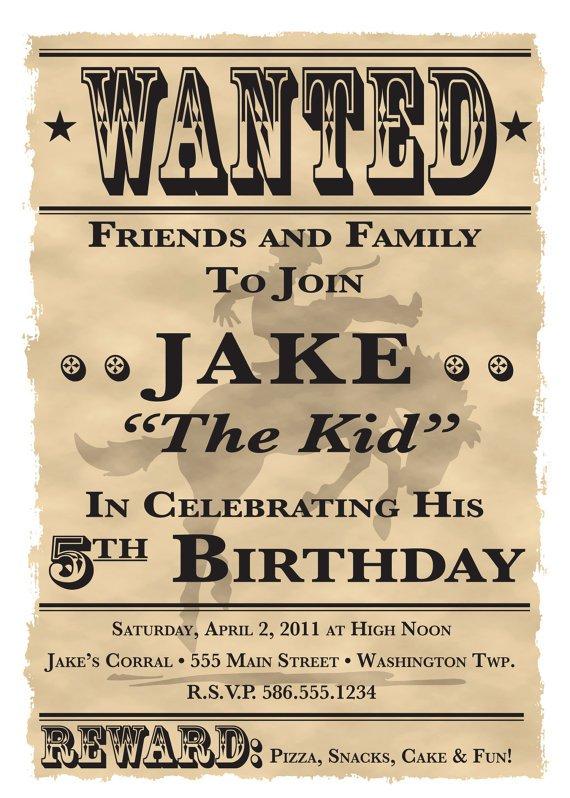 Western Birthday Invitation Templates Free