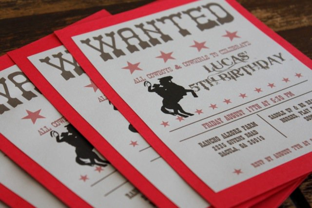 Western Birthday Invitations Printable Free