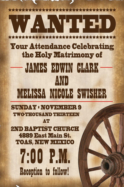 Western Wedding Invitations Free Printable