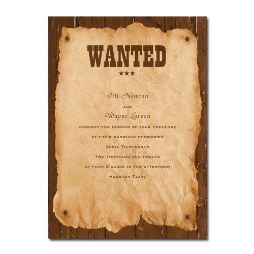 Western Wedding Invitations Printable