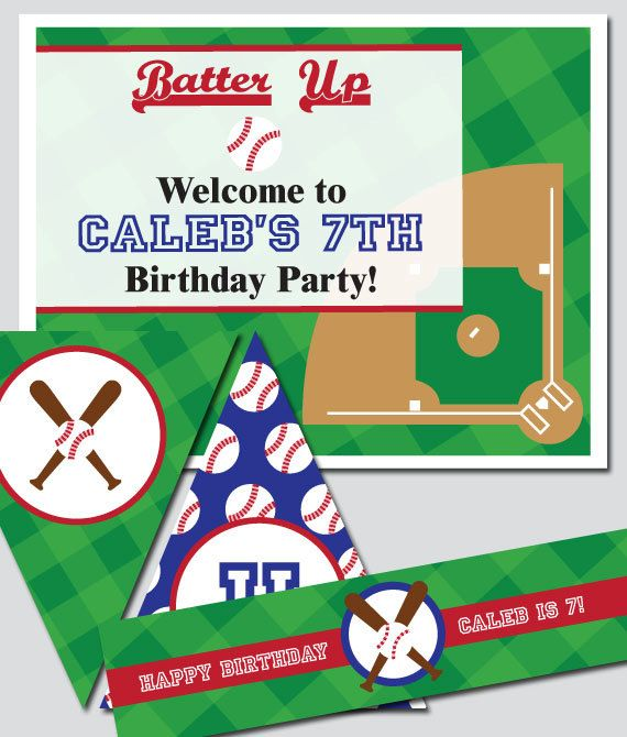 Work Baseball Party Invitations Printable