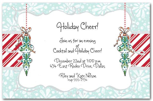 Work Christmas Party Invitation Wording