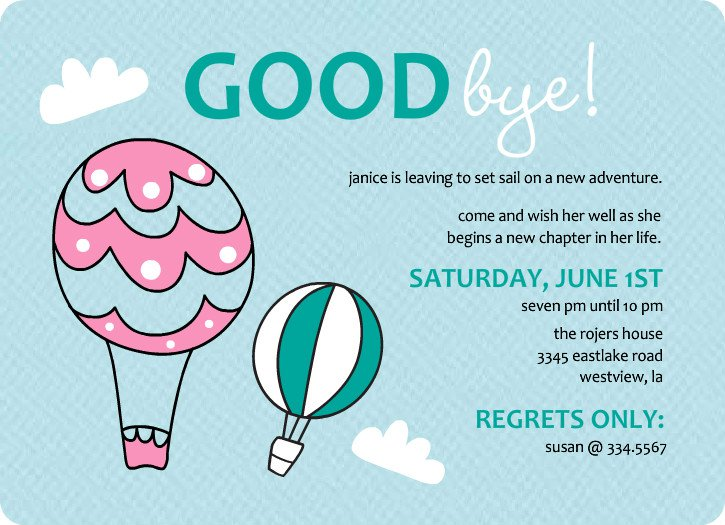 Work Going Away Party Invitation Wording