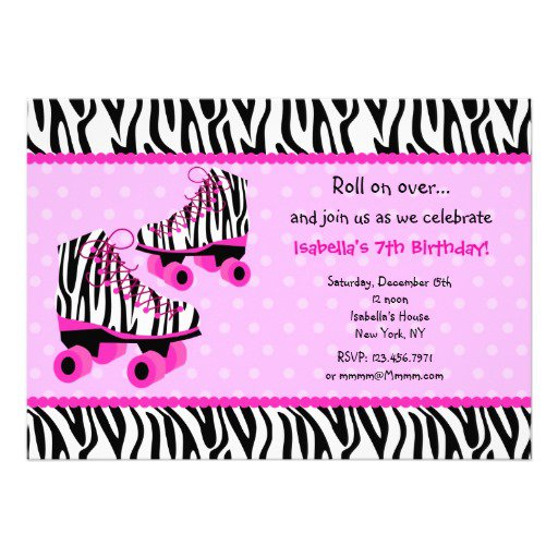 Zebra Birthday Invitations Printable Free