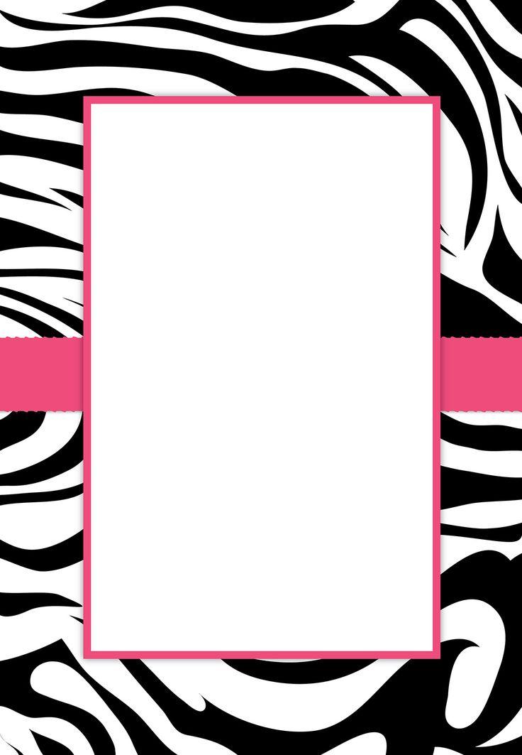 zebra partyrninvitations free printable, Birthday invitations