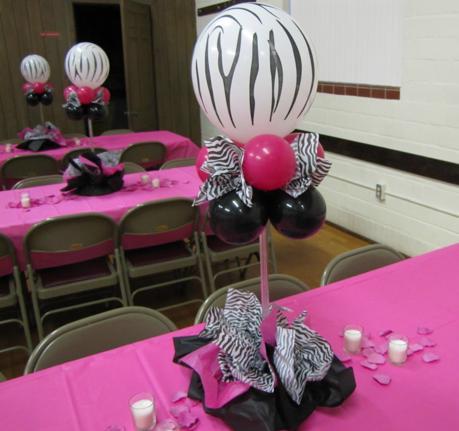 Zebra Party Table Decorations Ideas