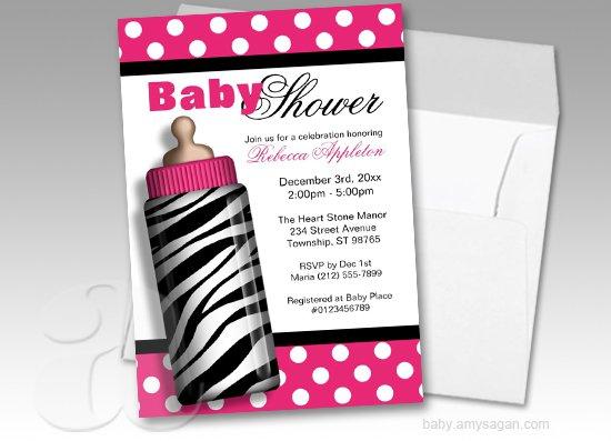 Zebra Print Baby Shower Invitations Free