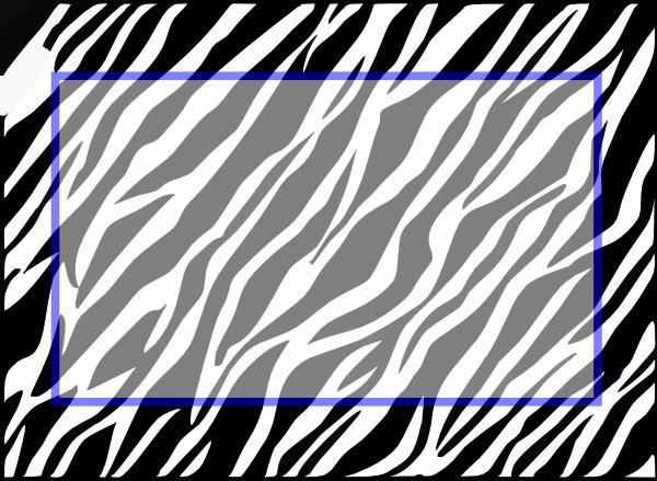 Zebra Print Background Clip Art