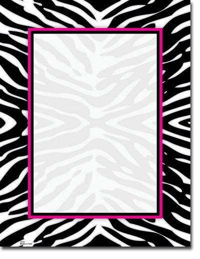 Zebra Print Blank Invitations