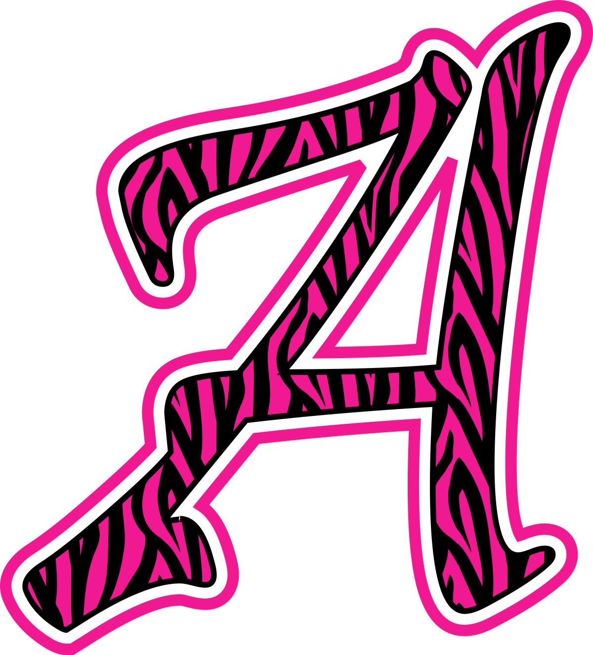 zebra print block letters 1200 x 1326