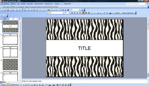 Zebra Print Border Templates