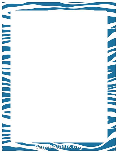 Zebra Print Clip Art Border