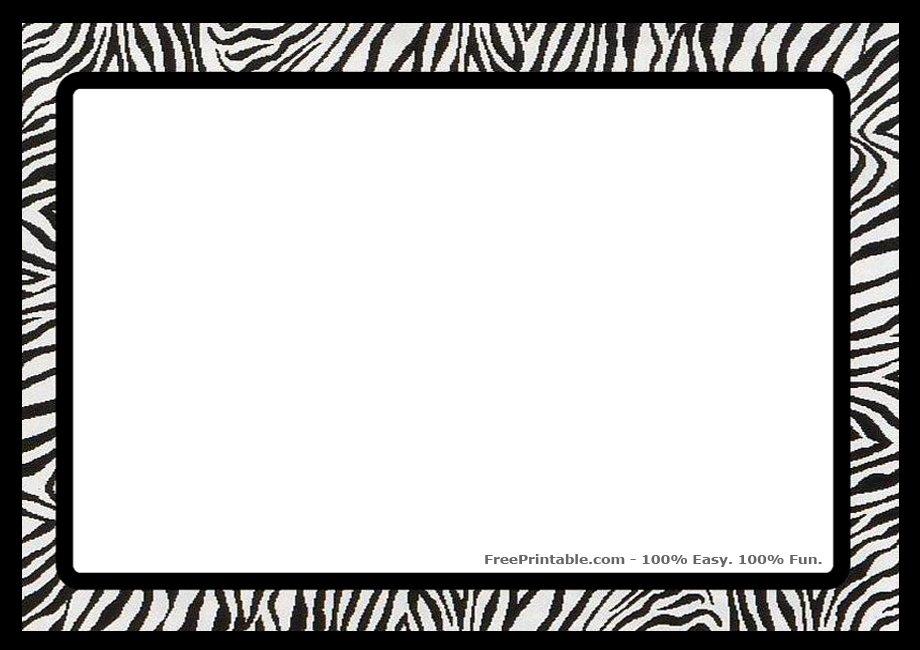 Zebra Print Clip Art Free