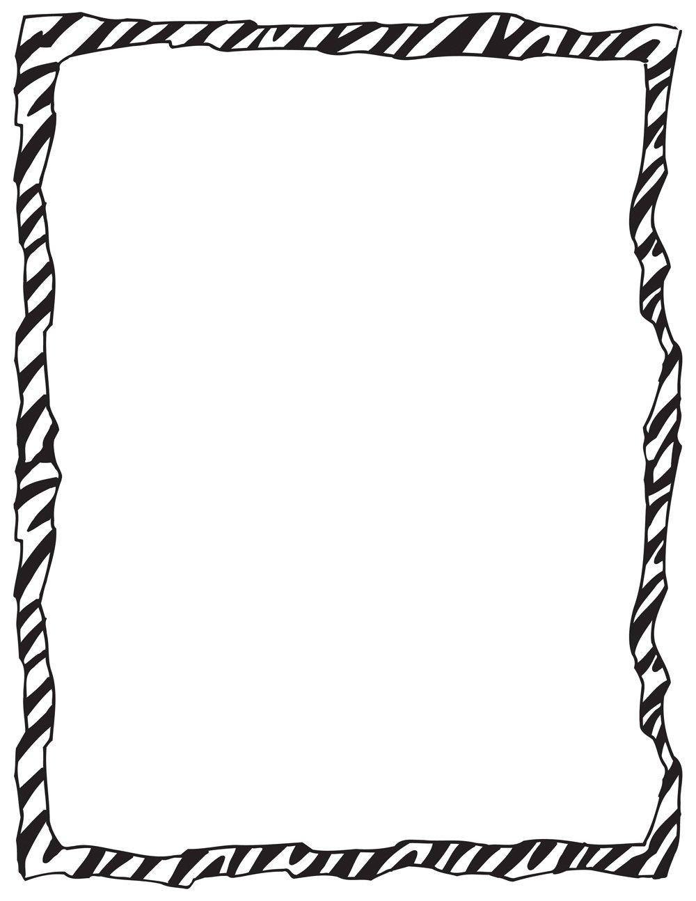 Zebra Print Invitation Clip Art