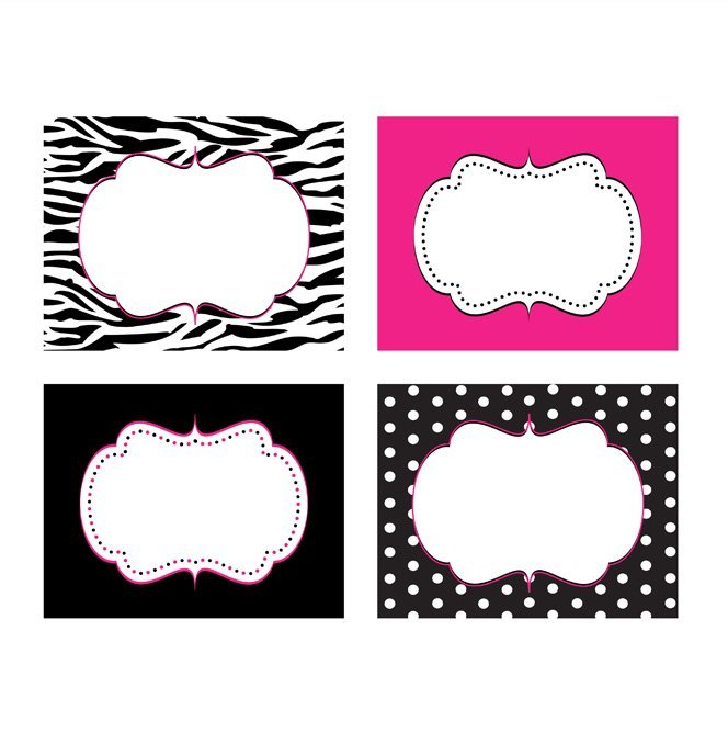 Zebra Print Labels Free Printable