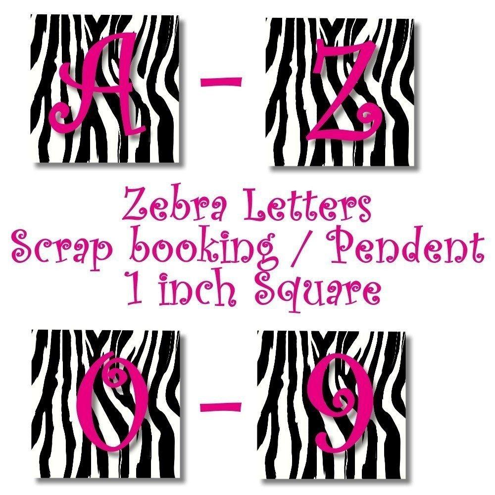 Zebra Print Letters Printable