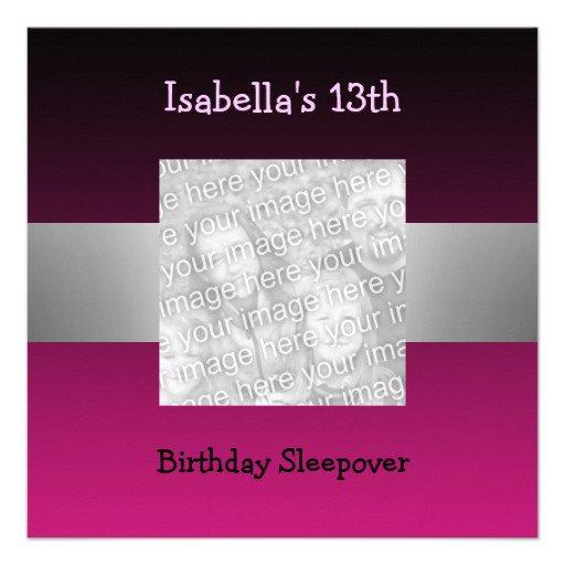 13th Birthday Slumber Party Invitation