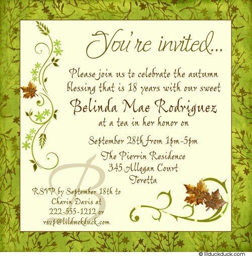 birthday invitations, invitation samples