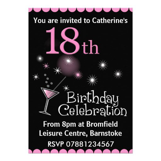 18th Birthday Invitation Designs