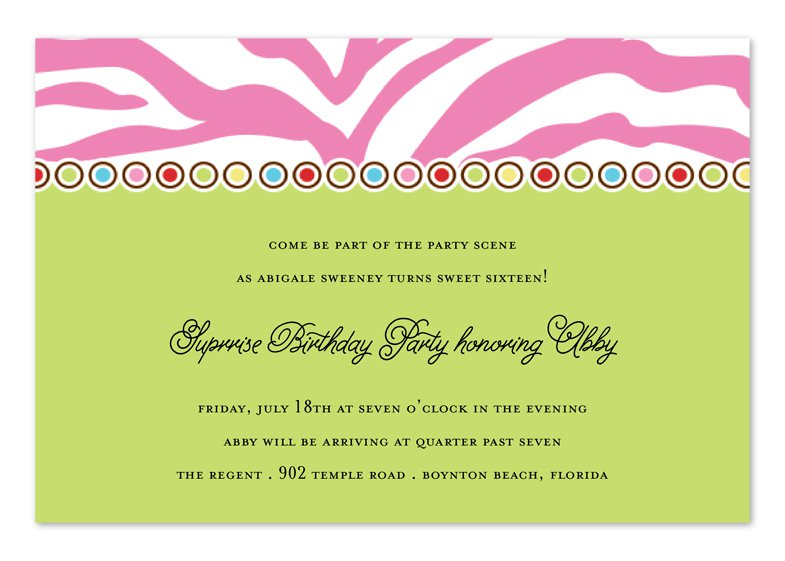 Birthday Invitation Wording - 18th birthday invitations wording ideas