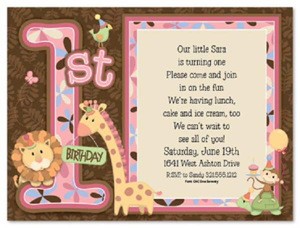 1st Birthday Rhymes For Invitations