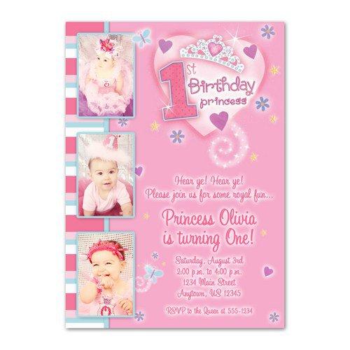 1st Princess Birthday Invitations Templates