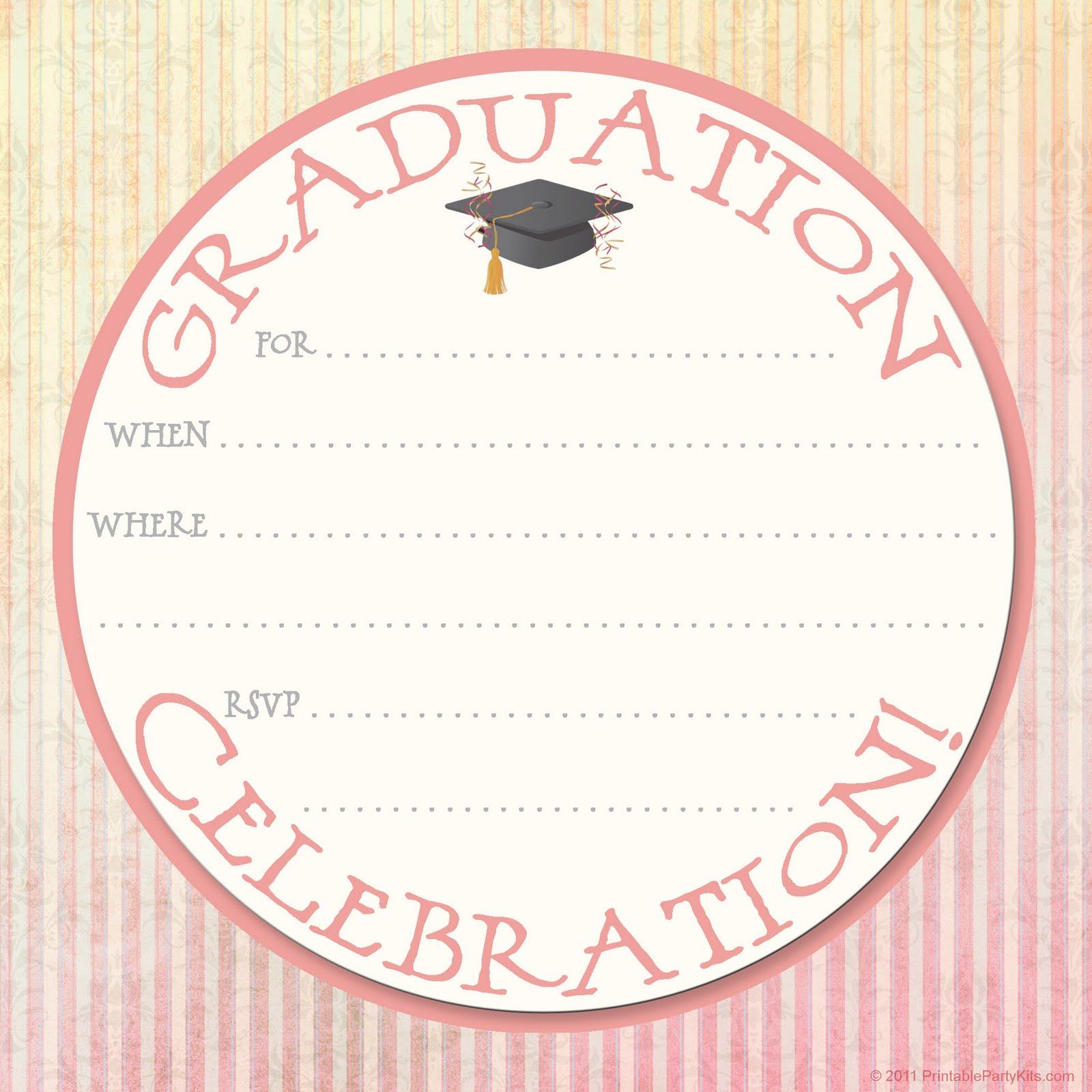 2014 Graduation Invitation Templates Free