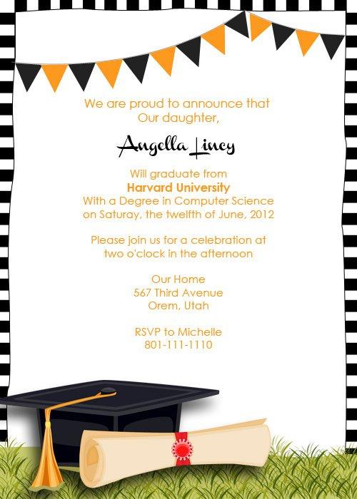 2014 Graduation Printable Invitation Templates