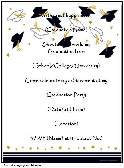 2015 Graduation Printable Invitation Templates