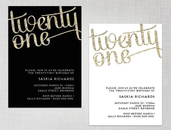 21st Birthday Invitations Templates Australia