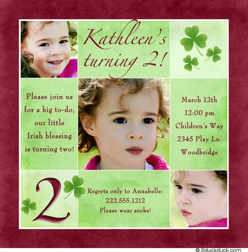2nd Birthday Party Invitation Wording Girl