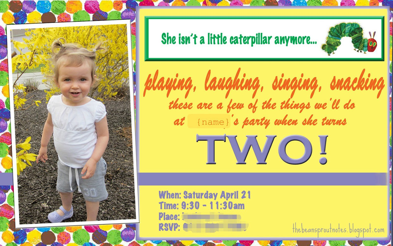 2nd Birthday Rhymes For Invitations