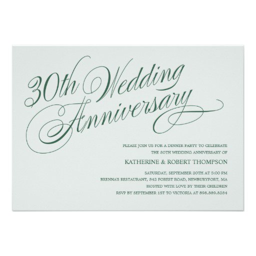 30 Anniversary Invitations