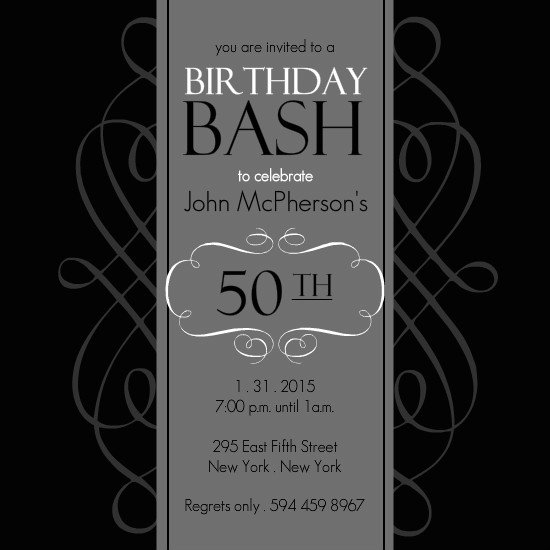 Free 40th Birthday Invitations Templates  Birthday Invitations Free Download