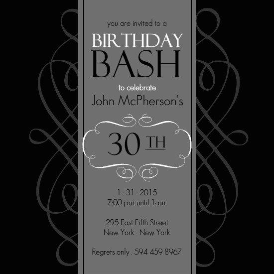 30th Birthday Invitations Templates Free – 30th Birthday Invitations Templates Free Printable