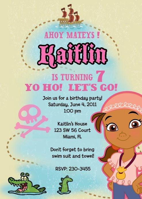 39;s Pirate Party Invitation Templates