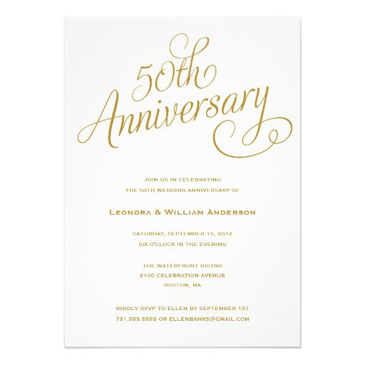 50 Anniversary Invitation Templates